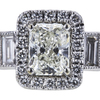 1.04 ct. Radiant Cut Halo Ring, K, SI2 #4
