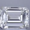 2.13 ct. Emerald Cut 3 Stone Ring, J, VS2 #1