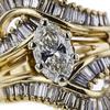 1.54 ct. Oval Cut Bridal Set Ring, I, I1 #4