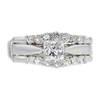 0.91 ct. Princess Cut Bridal Set Ring, F-G, SI2 #2