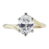1.20 ct. Oval Cut Bridal Set Ring, H, VS1 #4