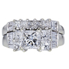 1.20 ct. Princess Cut Bridal Set Ring #3
