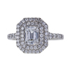 0.90 ct. Emerald Cut Halo Ring, D, VVS2 #2