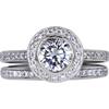 1.07 ct. Round Cut Bridal Set Ring, H, VS2 #3