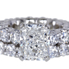 3.01 ct. Radiant Cut Bridal Set Ring #3