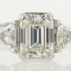 1.47 ct. Emerald Cut 3 Stone Ring #1