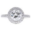 1.55 ct. Round Cut Halo Ring, H, SI2 #3