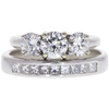 0.56 ct. Round Cut Bridal Set Ring, G-H, VS1-VS2 #1