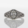 0.75 ct. Oval Cut Bridal Set Ring #4