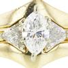 0.76 ct. Marquise Cut Bridal Set Ring, E, SI2 #4
