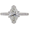 1.86 ct. Marquise Cut Solitaire Ring, I, SI2 #3
