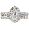 0.9 ct. Oval Cut Bridal Set Ring, G, VS1 #3