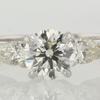 1.08 ct. Round Cut 3 Stone Ring #1