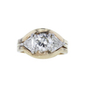 0.98 ct. Round Cut 3 Stone Ring, L-M, SI2 #2