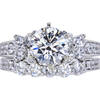 1.11 ct. Round Cut Bridal Set Ring, F, VVS1 #2