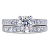 1.00 ct. Round Cut Bridal Set Ring #3