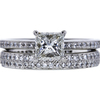 1.00 ct. Princess Cut Bridal Set Ring, J, VS2 #2