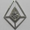1.59 ct. European Cut Pendant Necklace #1