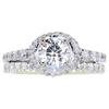 0.85 ct. Round Cut Bridal Set Ring, G, SI2 #3