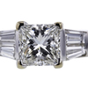 1.24 ct. Princess Cut Bridal Set Ring #4