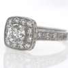 Art Deco .70 ct. Round Cut Halo Ring #3