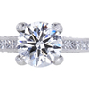 1.10 ct. Round Cut Solitaire Ring, F, VS1 #3