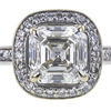1.51 ct. Square Emerald Cut Halo Ring, I, VS2 #4