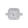 1.65 ct. Princess Cut Halo Ring, K, VS2 #3
