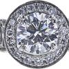 1.02 ct. Round Cut Bridal Set Ring, H, VS1 #4