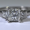 1.0 ct. Princess Cut 3 Stone Ring #2