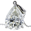 4.26 ct. Pear Cut Pendant Necklace, J, SI1 #4