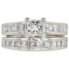 0.9 ct. Princess Cut Bridal Set Ring, K, VVS2 #3