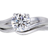 1.21 ct. Round Cut Bridal Set Other Ring, G, VS1 #3