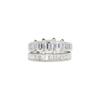 0.59 ct. Emerald Cut Bridal Set Ring, J, VVS1 #3