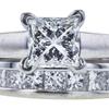 0.98 ct. Princess Cut Bridal Set Ring, G, SI1 #1