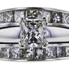 1.06 ct. Princess Cut Bridal Set Ring, I, SI1 #4
