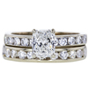 0.93 ct. Radiant Cut Bridal Set Ring, G, SI2 #3