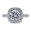 2.32 ct. Round Cut Halo Ring, D, I1 #2