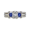 0.98 ct. Radiant Cut 3 Stone Ring, H, SI2 #3