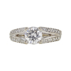 1.31 ct. Round Cut Solitaire Ring, E, I1 #3