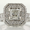 0.98 ct. Princess Cut Halo Ring #1