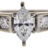 0.82 ct. Marquise Cut Bridal Set Ring, G, SI2 #4