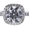 0.90 ct. Round Cut Bridal Set Ring, E, SI1 #4