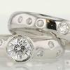 0.53 ct. Round Cut Bridal Set Ring #1