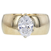 1.11 ct. Oval Cut Solitaire Ring, F, SI2 #3