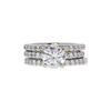 1.41 ct. Round Cut Bridal Set Ring, H, SI1 #3