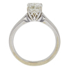 1.0 ct. Cushion Cut Bridal Set Ring, K, VS1 #4