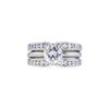 0.91 ct. Round Cut Bridal Set Ring, J, VS2 #3