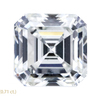 1.51 ct. Asscher Cut 3 Stone Ring, G, VS1 #3