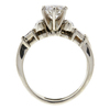 1.01 ct. Round Cut Bridal Set Ring, H, SI1 #4